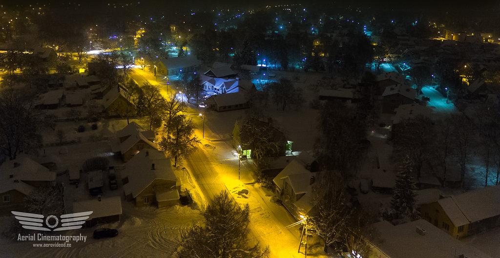 Kohila alev talvisel ööl